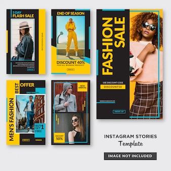 Voedsel instagram verhalen sjabloon