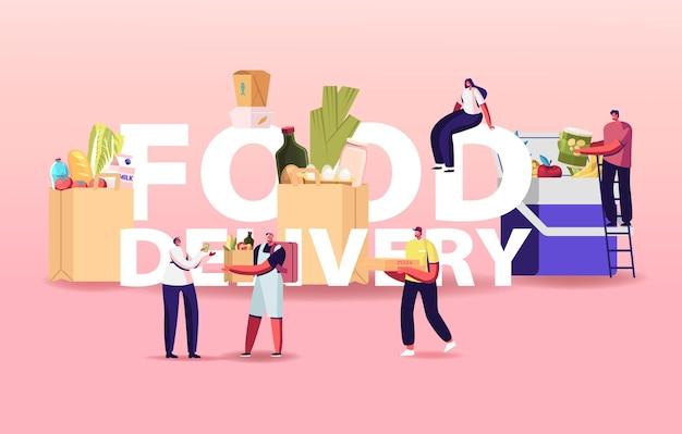Voedsel levering illustratie