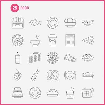Voedsel lijn pictogram
