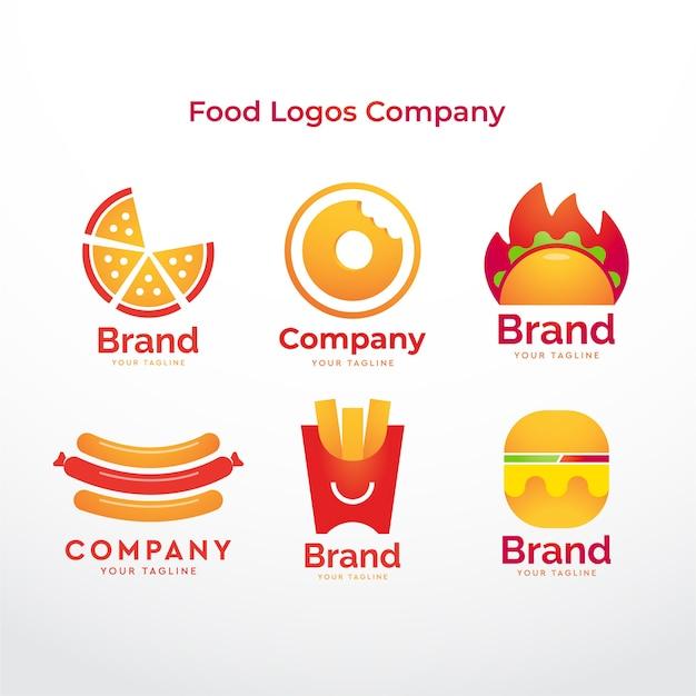 Voedsel logo's bedrijf