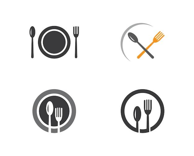 Voedsel logo sjabloon.