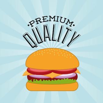 Voedsel menu over witte achtergrond vectorillustratie