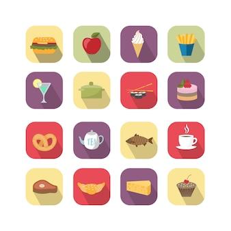 Voedsel ontwerpelementen