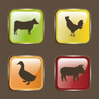 Voedsel over beige illustratie