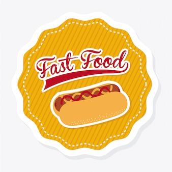 Voedsel over witte illustratie