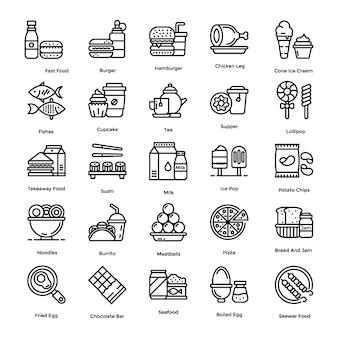 Voedsel pictogrammen pack