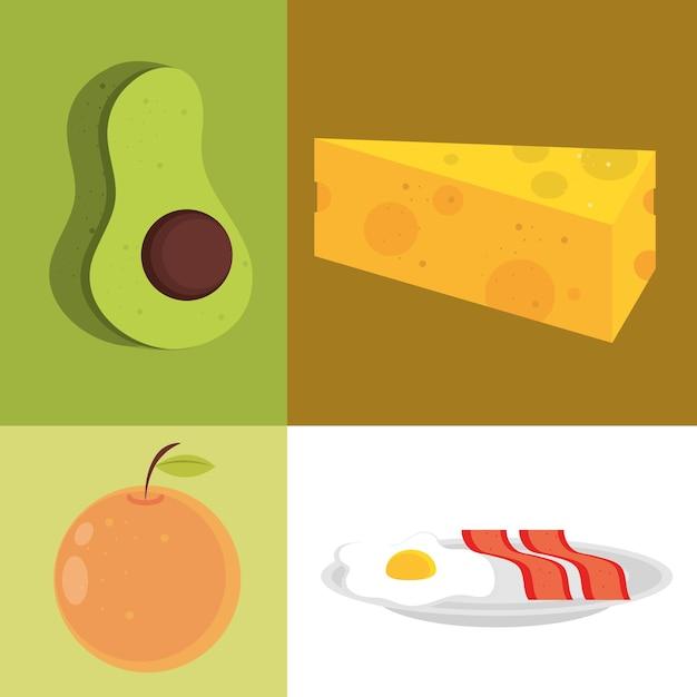 Voedsel pictogrammenset