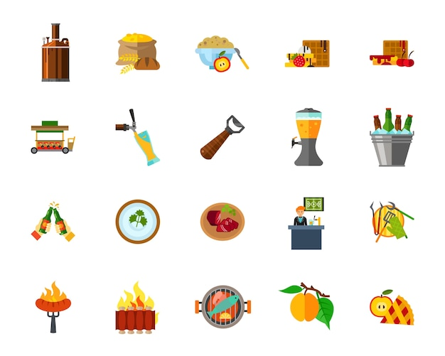 Voedsel pictogramserie