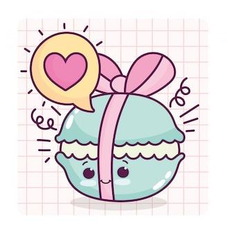 Voedsel schattig makaron maken lint hart liefde cartoon