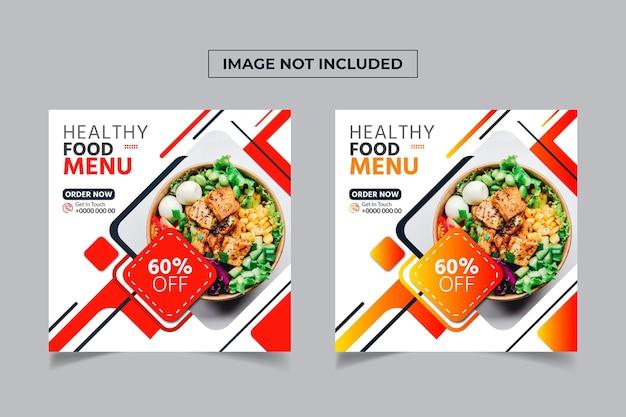 Voedsel social media postontwerp