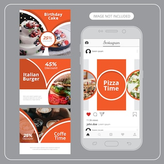 Voedsel sociale media post sjabloon voor restaurant