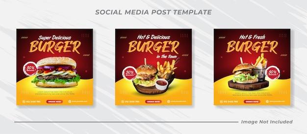 Voedsel sociale media promotie en instagram banner postontwerp