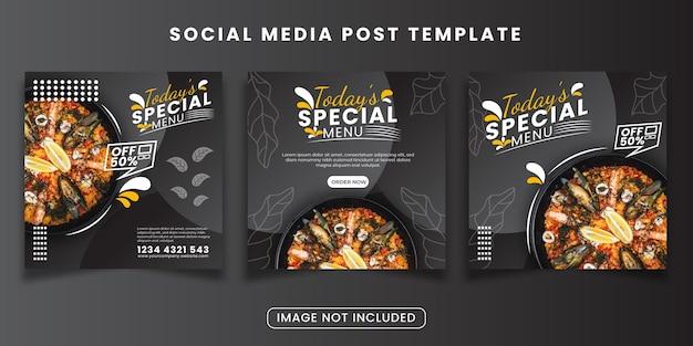 Voedsel speciale aanbieding social media posts