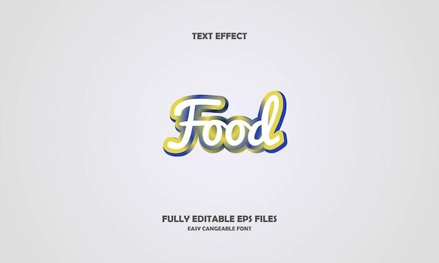 Voedsel tekst effect