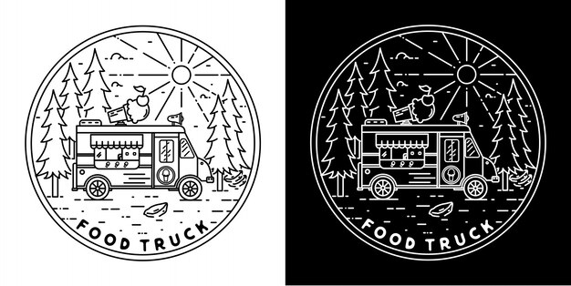 Voedsel truck badge design