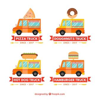 Voedsel truck logo collectie