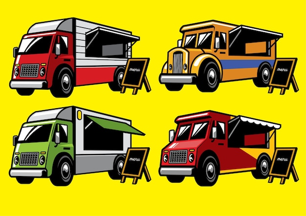 Voedsel truck set
