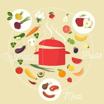 Voedsel vector ontwerp
