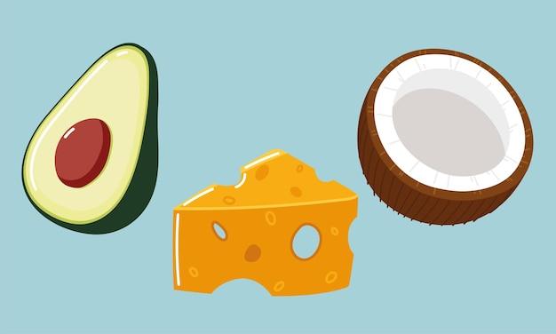 Voedsel verse avocado-kokoskaas