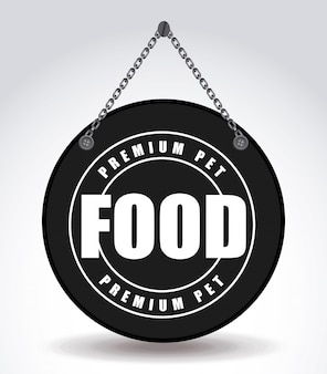 Voedsel voor huisdieren embleem grafisch ontwerp