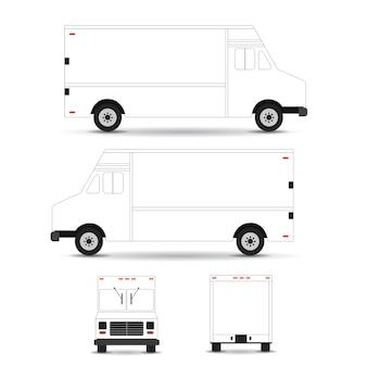 Voedsel vrachtwagen vector sjabloon