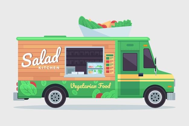 Voedsel vrachtwagen vectorillustratie