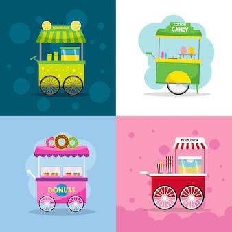 Voedsel winkelwagen illustratie
