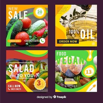 Voedselaanbieding banner met foto