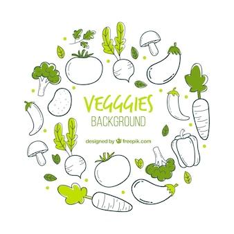 Voedselachtergrond met groenten