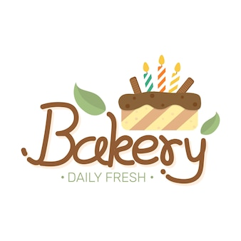 Voedseletiket bakkerij zoete bakkerij dessert snoepwinkel ontwerpsjabloon