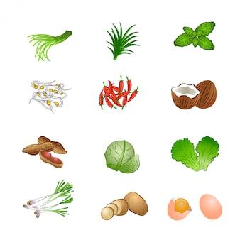 Voedselingrediënten set bundel