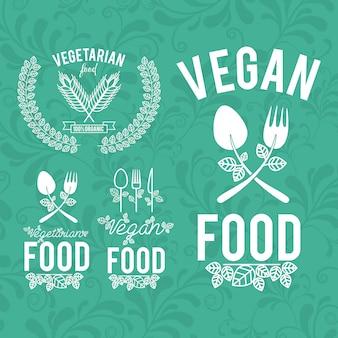 Voedselontwerp, vectorillustratie.