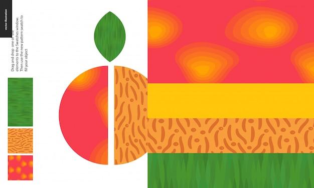Voedselpatroon, fruit, perzik
