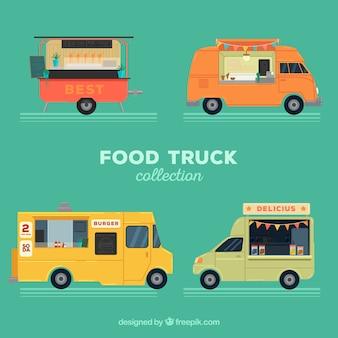 Voedselwagens met verschillende stijlen