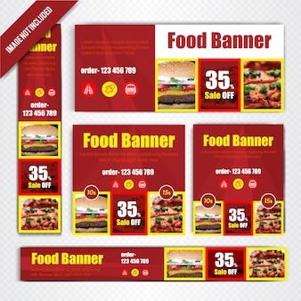 Voedselwebbanner ingesteld voor restaurant