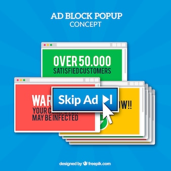 Voeg blokpop-upconcept toe met een plat ontwerp