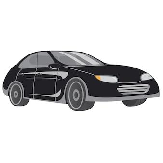 Voertuig auto sedan zwart