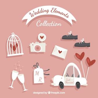 Voertuig en andere elementen voor bruiloften