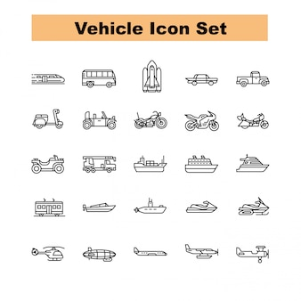 Voertuig icon set vector