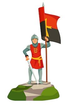 Voet ridders templar banner drager