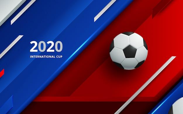 Voetbal 2020 wereldkampioenschap cup achtergrond voetbal.