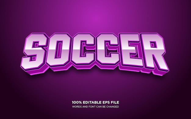 Voetbal 3d bewerkbaar tekststijleffect