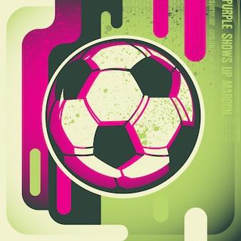 Voetbal achtergrondontwerp