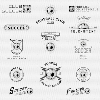 Voetbal badges logo's