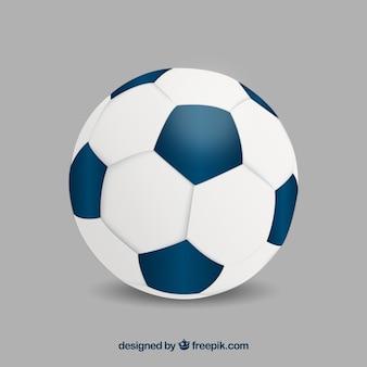 Voetbal bal achtergrond in realistische stijl