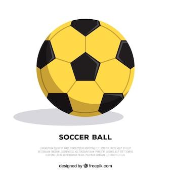 Voetbal bal achtergrond in vlakke stijl