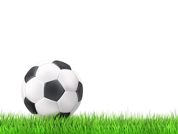 Voetbal bal gras achtergrond