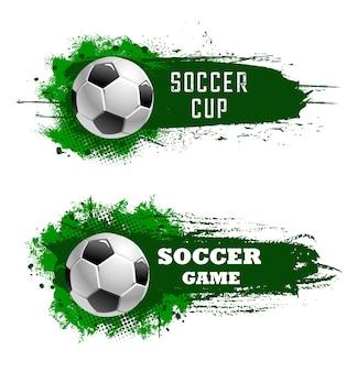 Voetbal beker, kampioenschap of voetbalspel toernooi pictogrammen