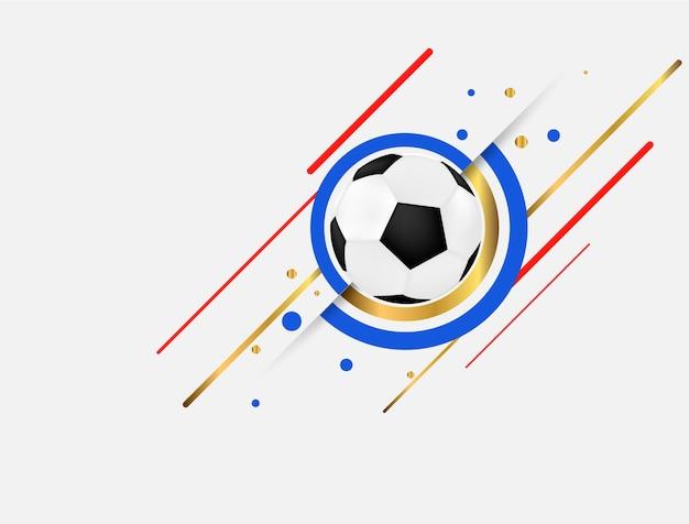 Voetbal beker ontwerp van een stijlvolle achtergrond