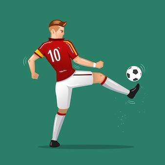 Voetbal cartoon aanrakingsbal